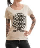 Rettferdige klær Fair Trade T-skjorter Flower of Life Earthereal