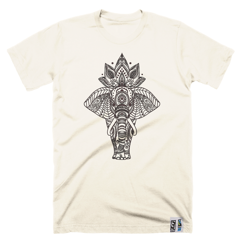 Indian Elephant økologisk/fair trade T-skjorte - Herre