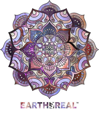 Earth Mandala økologisk/fair trade T-skjorte - Dame