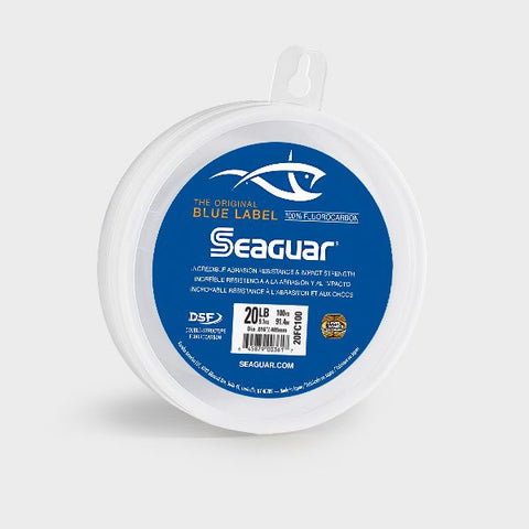 Seaguar Blue Label 100% Fluorocarbon Leader (DSF) 50 Yards