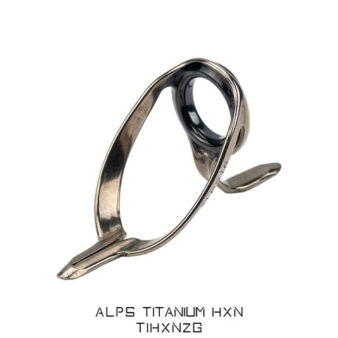 Alps Heavy HX guides with Titanium Frame and charcoal grey Zirconia Rings