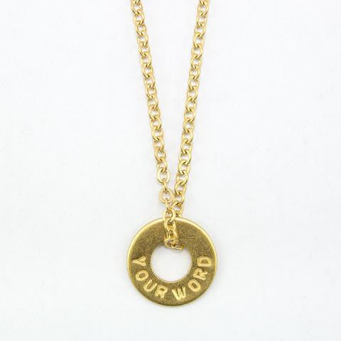 PERSONALIZED CHAIN NECKLACE - Infused Thoughts