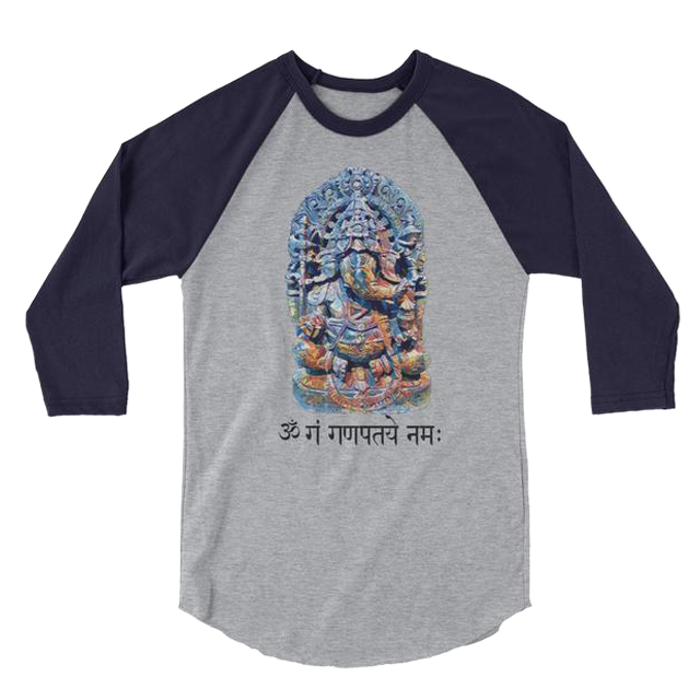 Ganesh 3/4 Sleeve Raglan Shirt - Unisex - Infused Thoughts