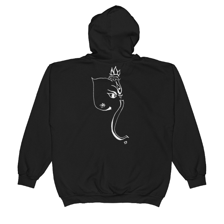 Hand Drawn Ganesh Hoodie Unisex - Infused Thoughts