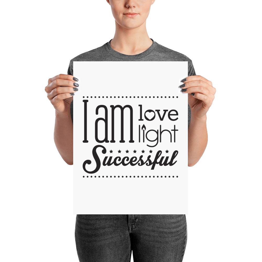 Enlightening Affirmation Poster - Infused Thoughts