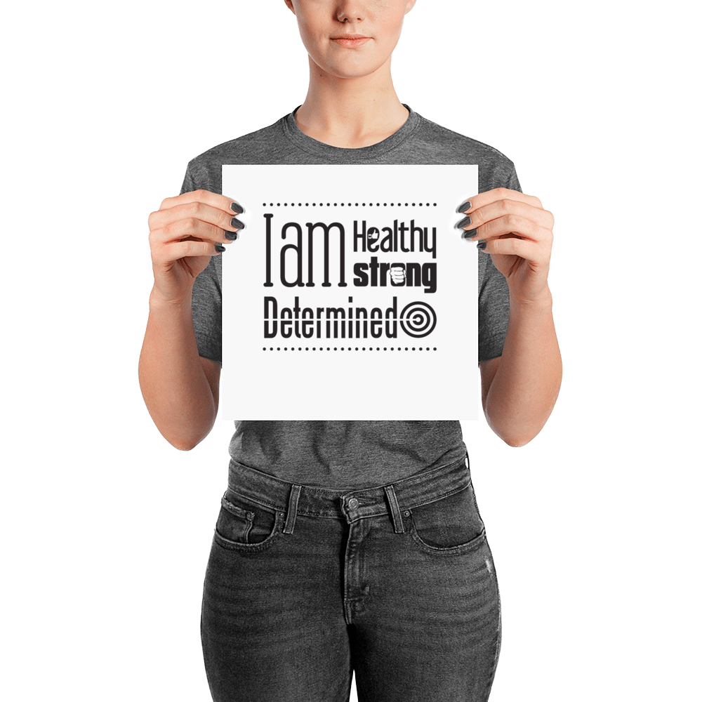 Empowering Affirmation Poster - Infused Thoughts