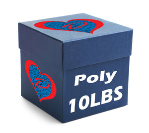 10 POUND BOX OF POLY PELLETS - ALWAYS MADE IN THE USA