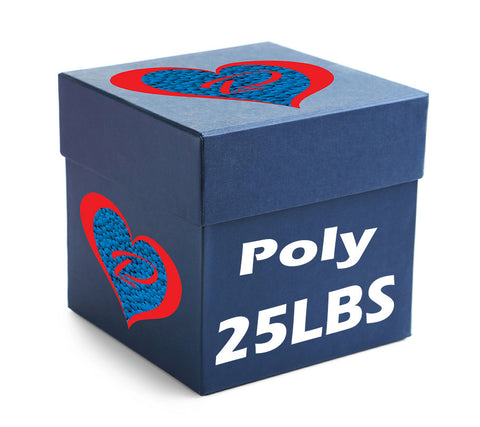 25 POUND BOX OF POLY PELLETS - ALWAYS MADE IN THE USA