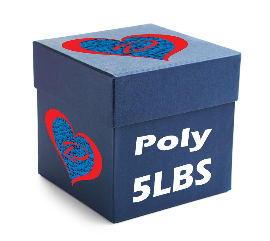 5 POUND BOX OF POLY PELLETS - ALWAYS MADE IN THE USA
