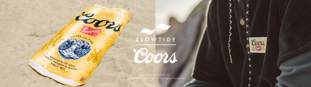 Coors Sustainable Towel and Blanket collection with Slowtide
