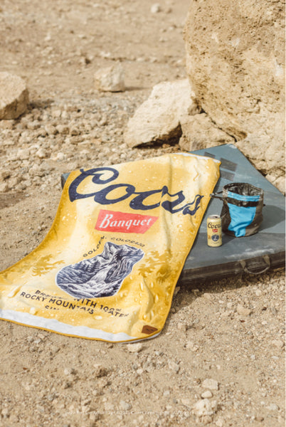 Coors Banquet Can in sustainable fabric