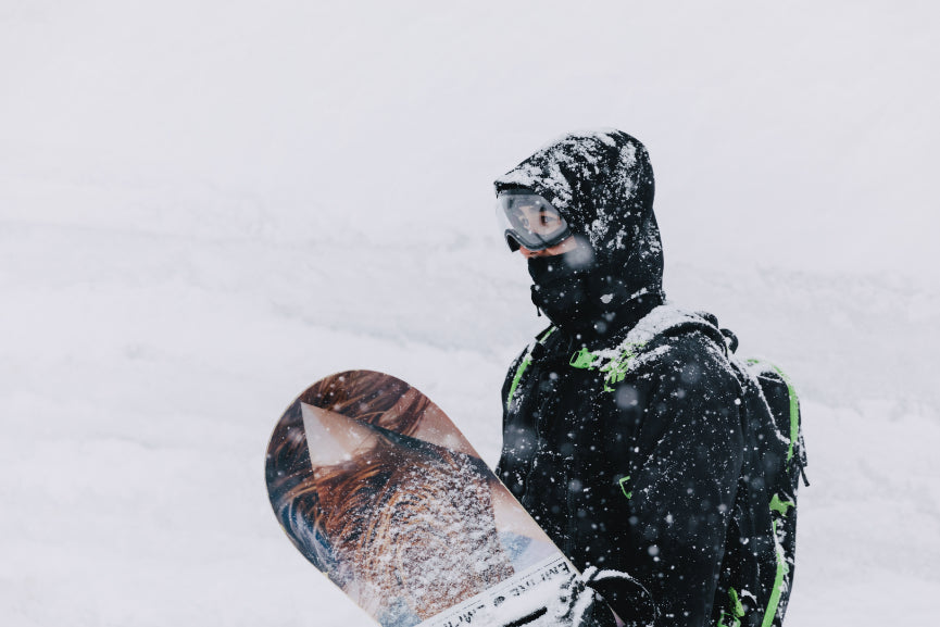 Snowboarder in Japan