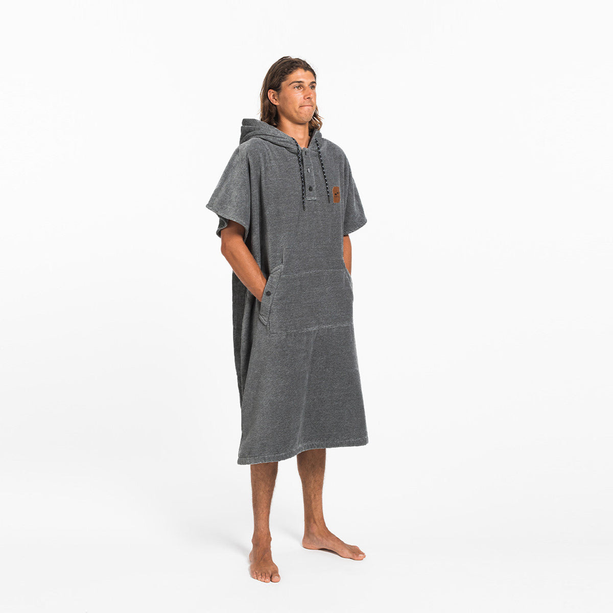 The Digs Changing Poncho - Heather Grey - L/XL - Slowtide