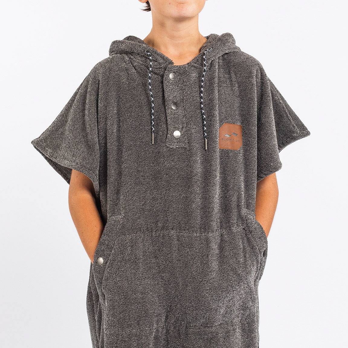 The Digs Changing Poncho - Heather Grey - Small - Slowtide