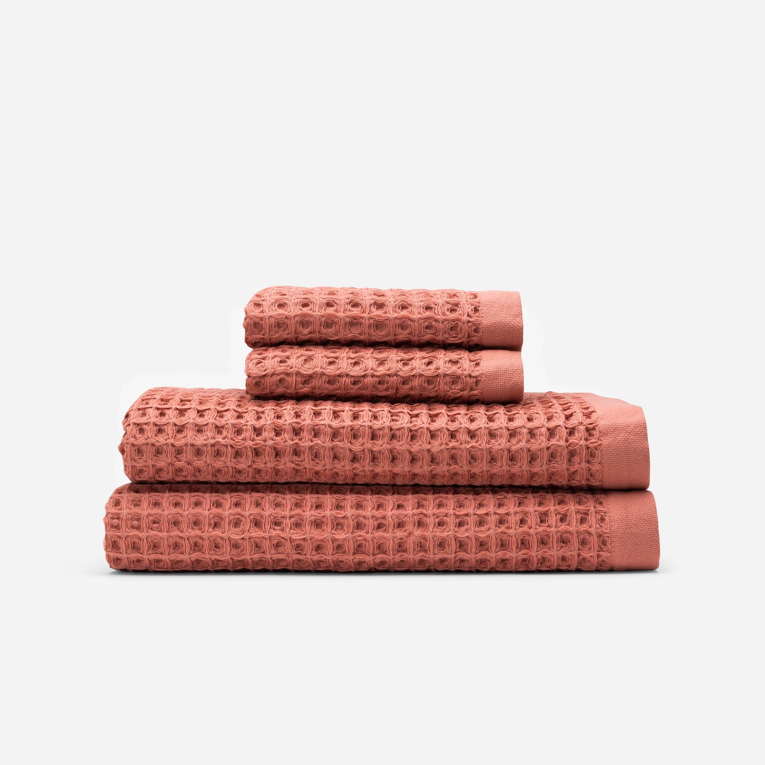 Guild Waffle Towel Two-Piece Bundle - Terracotta
