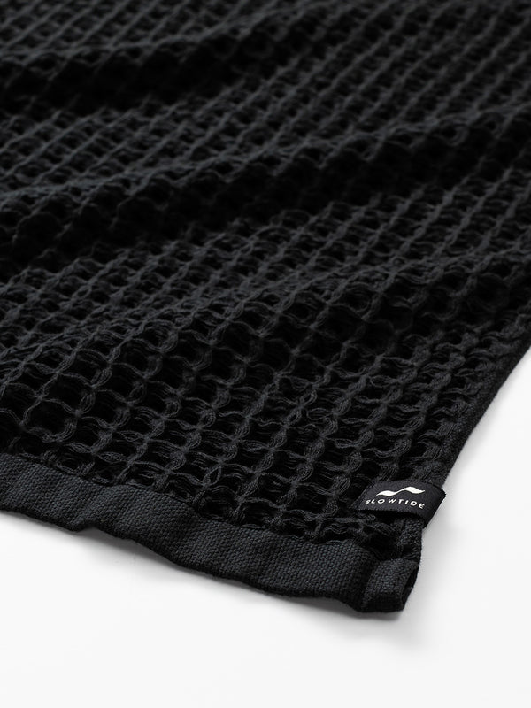 Guild Waffle Towel Two Piece Bundle - Black - Slowtide
