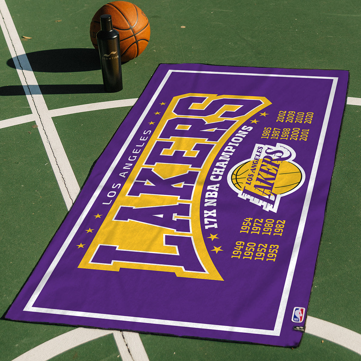 Lakers Trophy Count Quick-Dry Towel - Slowtide