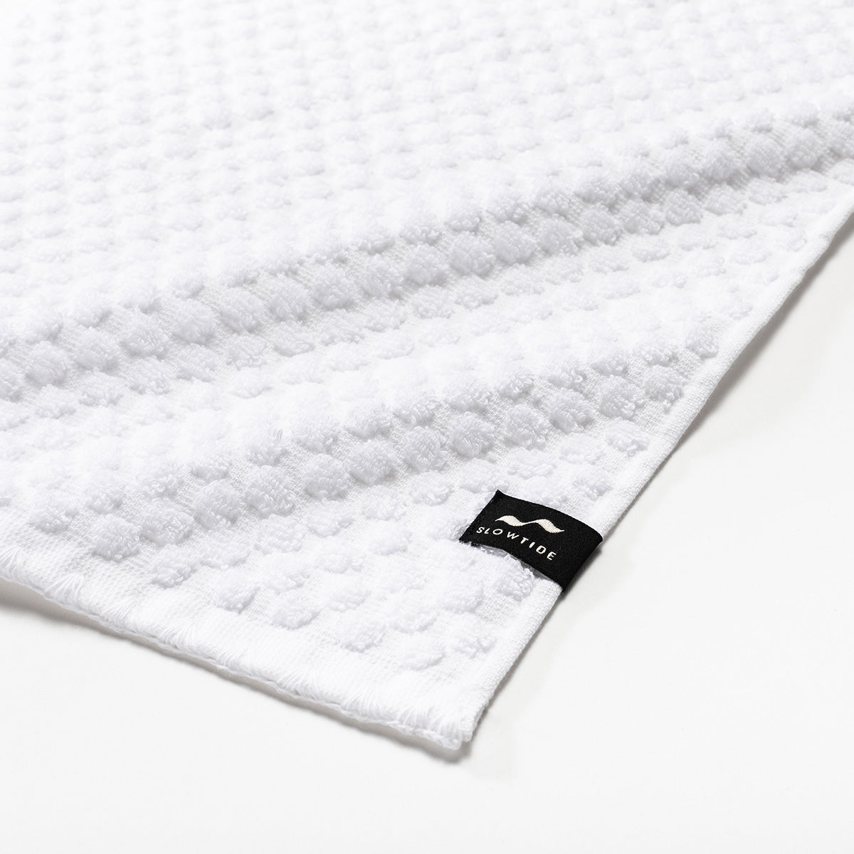 Clive Hand Towel - White - Slowtide