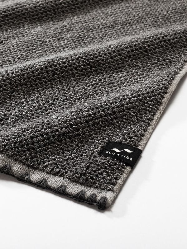 Luxe Hand Towel - Charcoal - Slowtide