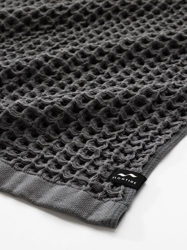 Guild Waffle Towel Four-Piece Bundle - Charcoal - Slowtide
