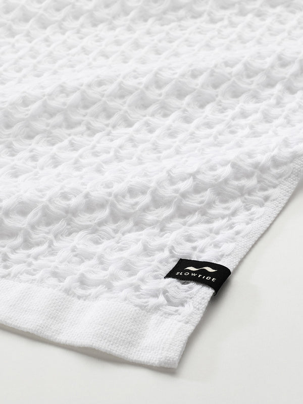 Guild Waffle Towel Two-Piece Bundle - White - Slowtide