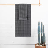 Guild Waffle Towel Four-Piece Bundle - Charcoal