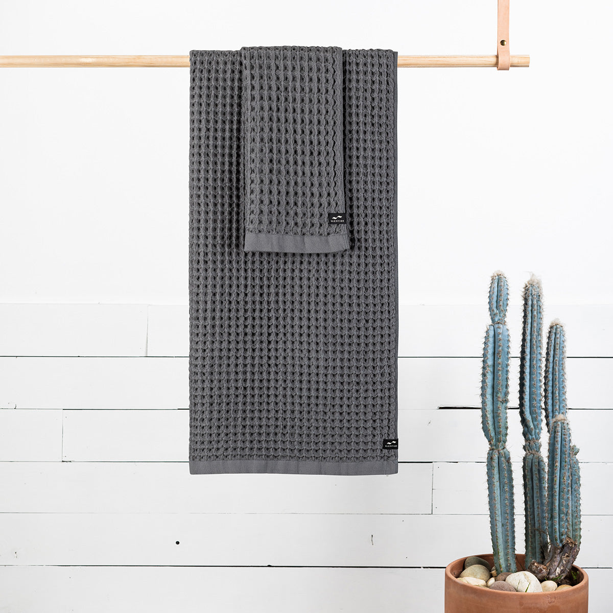 Guild Waffle Towel Two-Piece Bundle - Charcoal