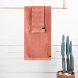 Guild Waffle Towel Four-Piece Bundle - Terracotta