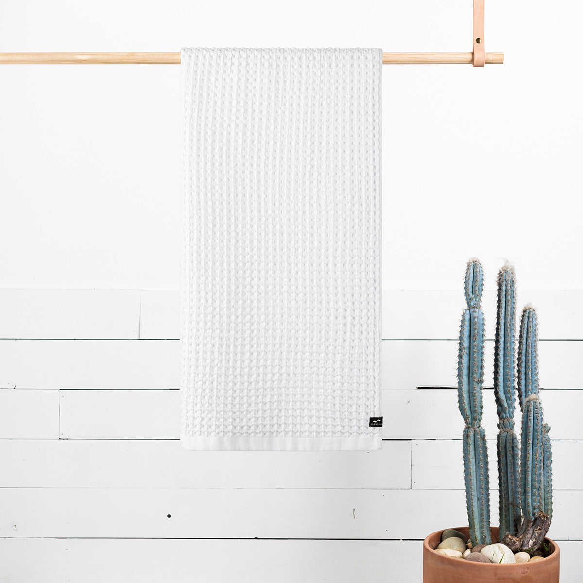 Guild Waffle Towel - White