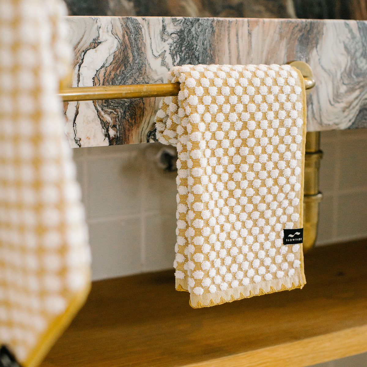 Clive Hand Towel - Mustard