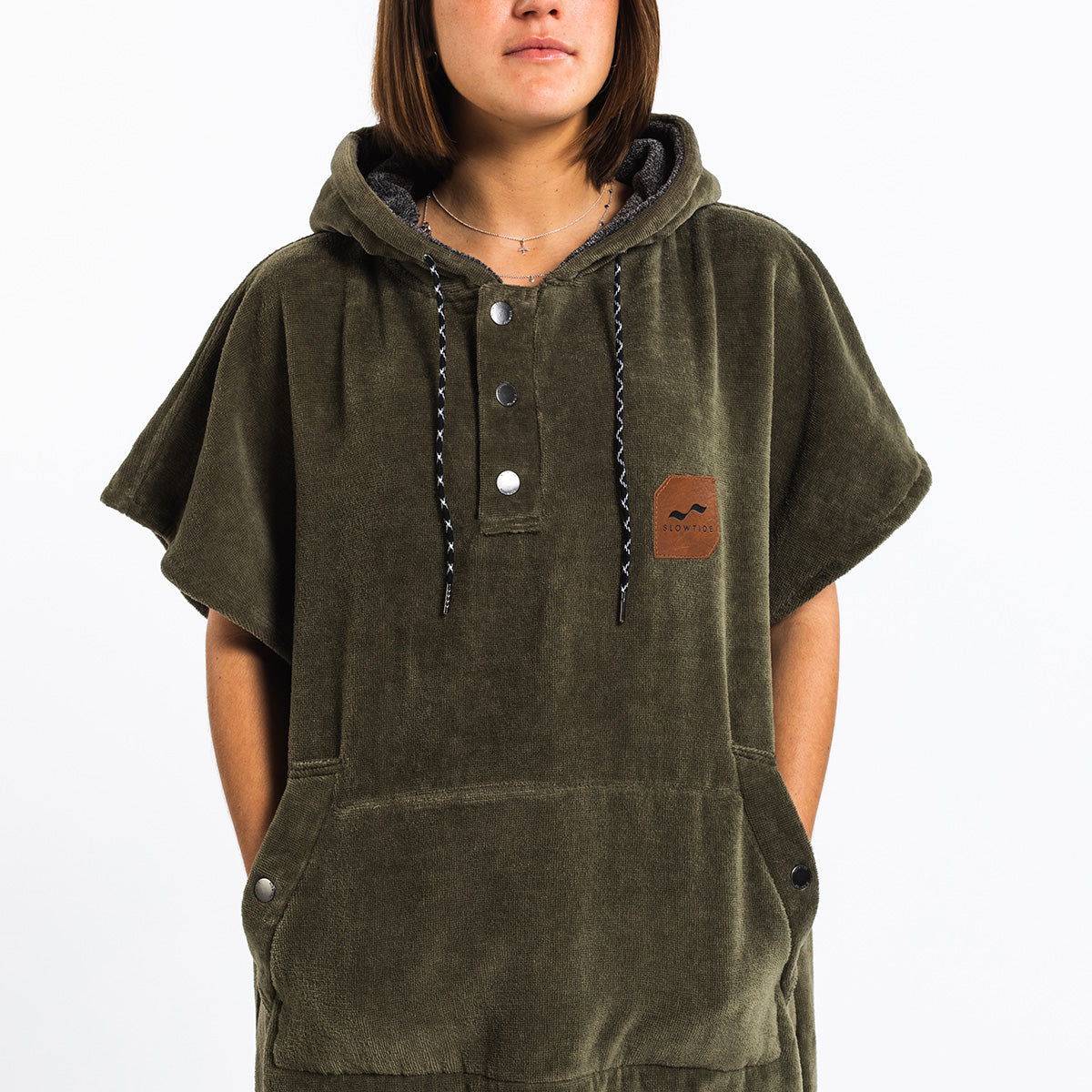 The Digs Changing Poncho - Green - Small - Slowtide