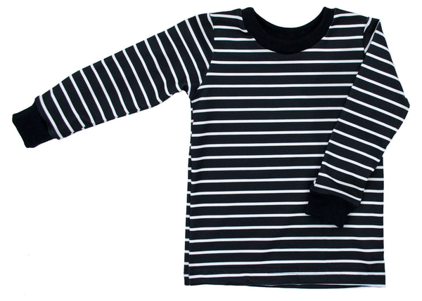 Black Stripe Long Sleeve Tee