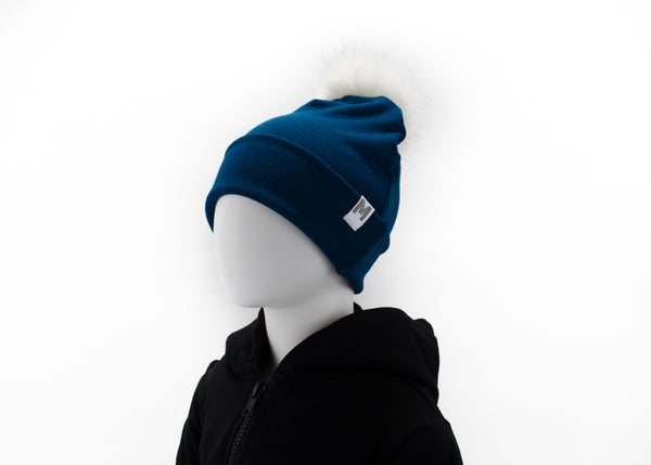 Teal Flip Rim Toque