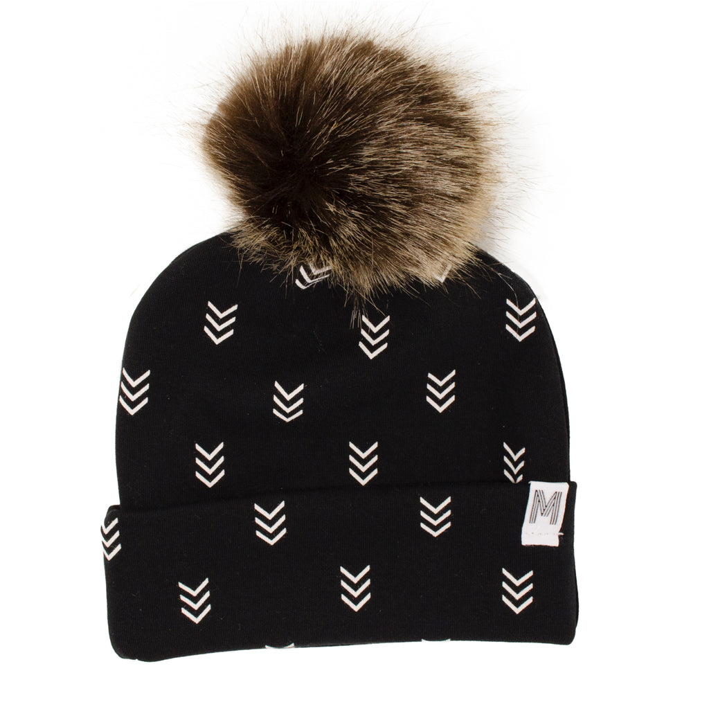 Arrow Flip Rim Toque - Dark Pom