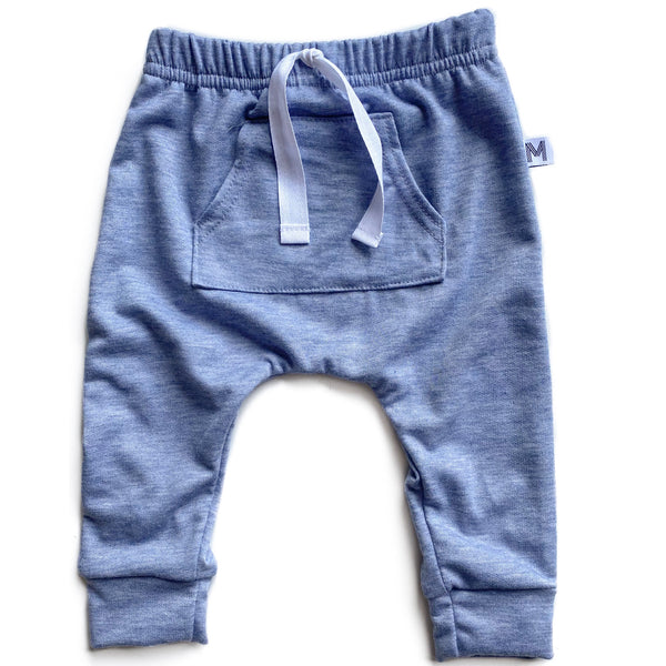 Denim French Terry Pocket Harems