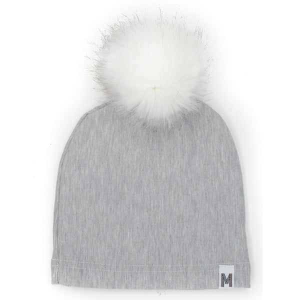 Grey Fleece Toque