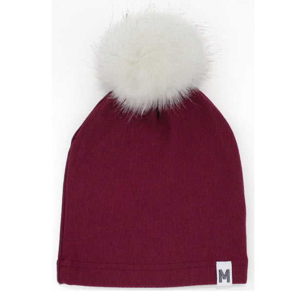 Maroon Fleece Toque