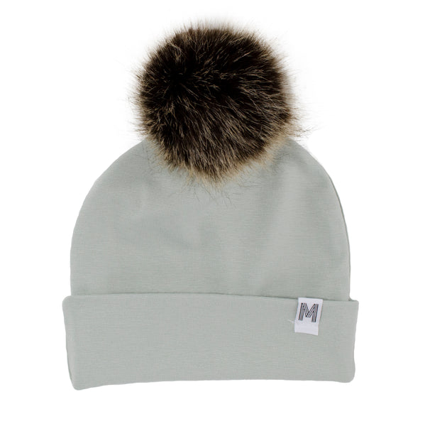 Mint Flip Rim Toque - Dark Pom