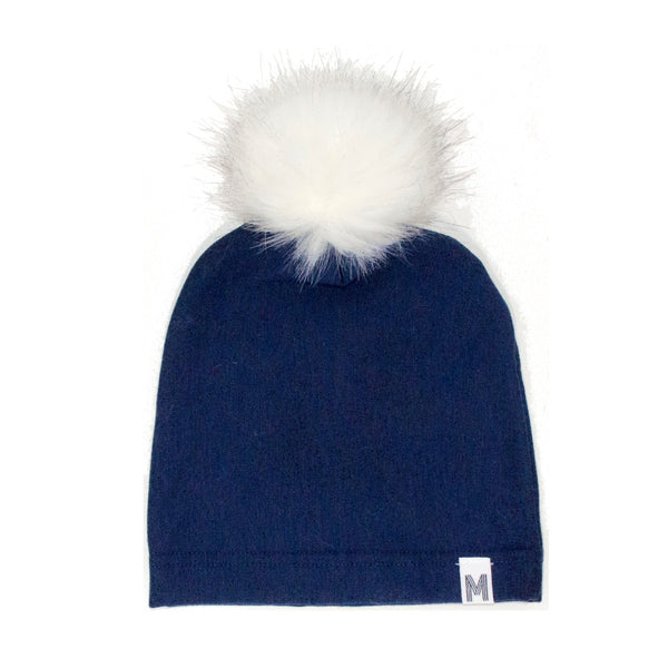 Navy Fleece Toque