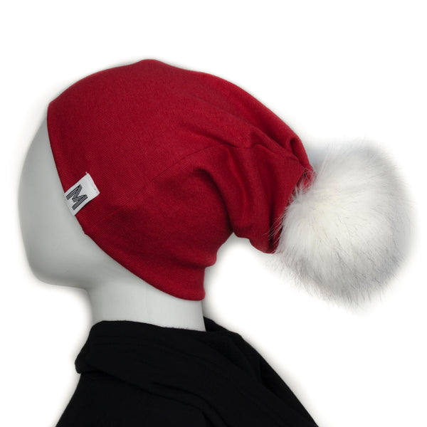 Red Flip Rim Toque