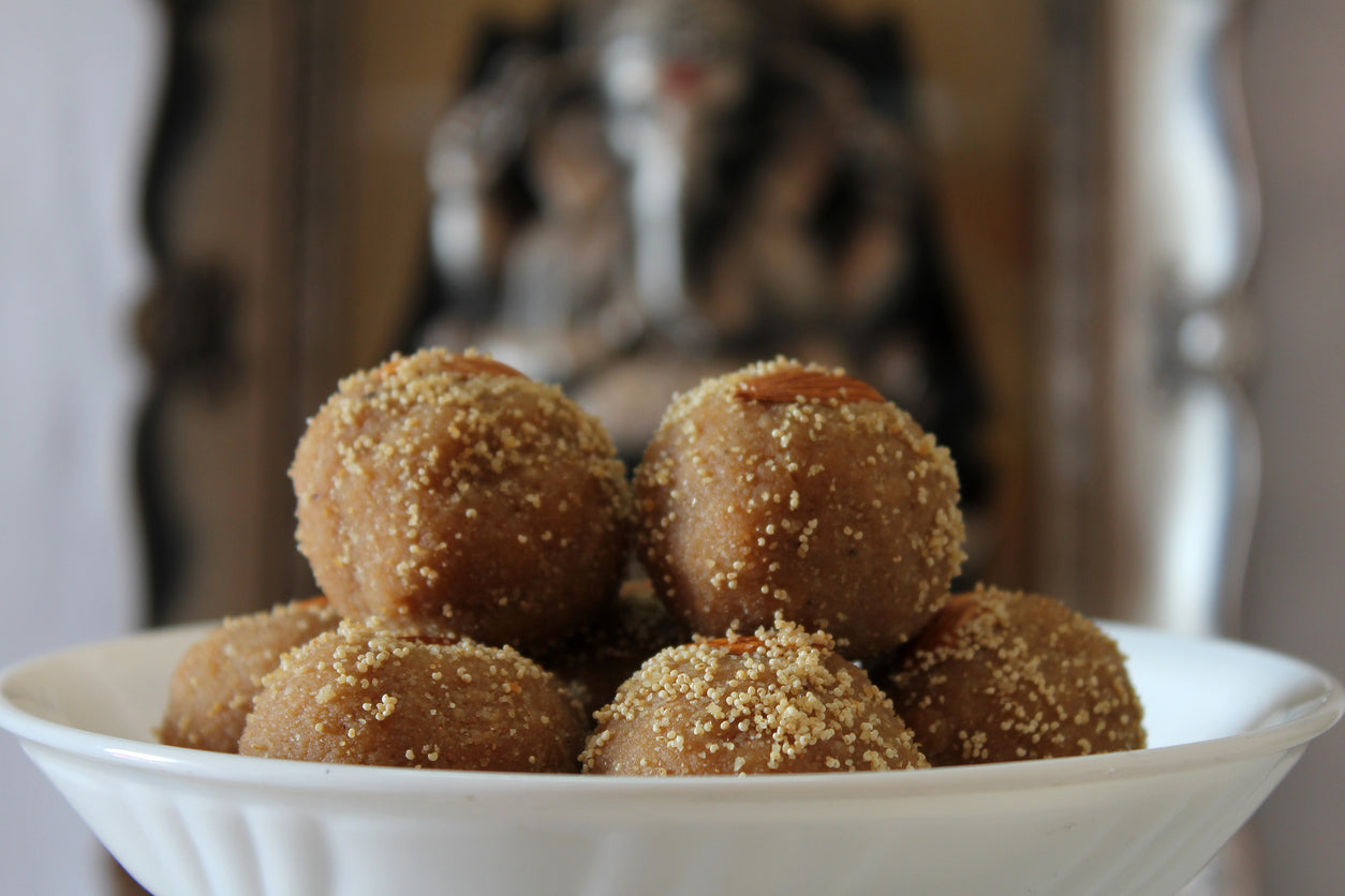 Churma laddu for healthy diet.
