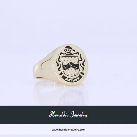 Mather family crest ring