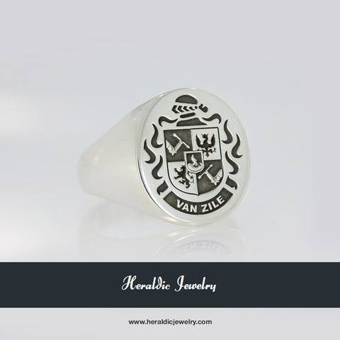 Van Zile family crest ring