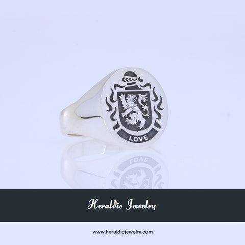 Love family crest ring