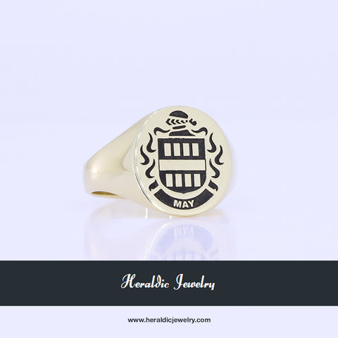 May family crest ring