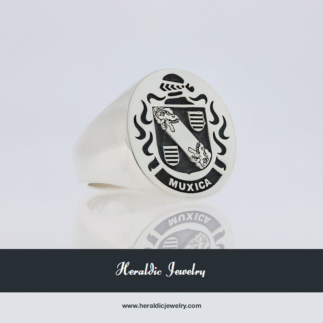 Muxica family crest ring