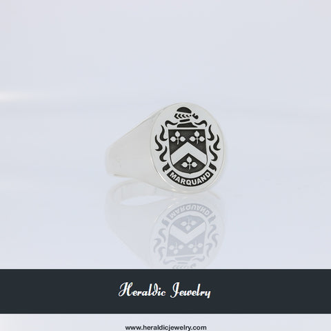Marquand family crest ring