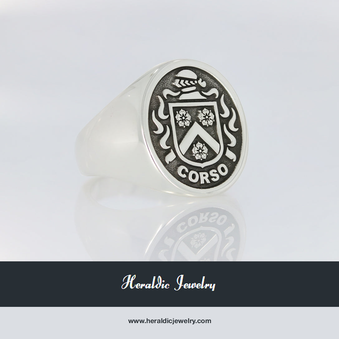 Corso family crest ring