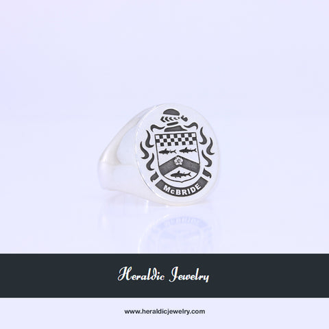 McBride coat of arms crest ring