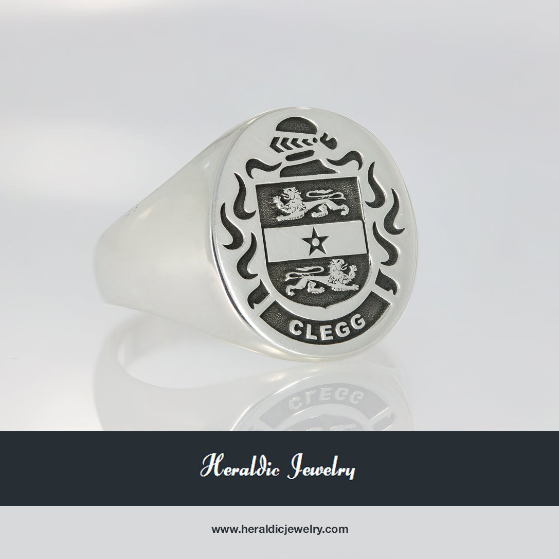 Clegg family crest ring